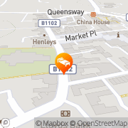 Map The Bell Hotel Mildenhall, United Kingdom