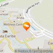 Map PortAventura® Hotel Caribe Salou, Spain
