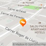 Map Apartamentos Mariposa Salou, Spain