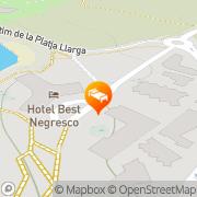 Map Complejo Best Negresco Salou, Spain