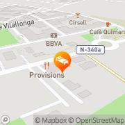Map Nuria Tarragona, Spain
