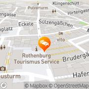 Karte Hotel Goldenes Lamm Rothenburg ob der Tauber, Deutschland