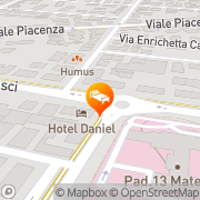 Map Hotel Daniel Parma, Italy