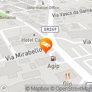 Map Hotel Capri Bardolino, Italy