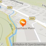 Karte Gästehaus Mann Wernigerode, Deutschland