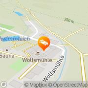 Karte Ferienhotel Wolfsmühle Rodishain, Deutschland