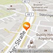Karte Quality Hotel Augsburg, Deutschland