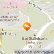 Karte Kurhotel an der Obermaintherme Bad Staffelstein, Deutschland