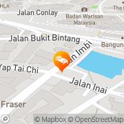 Map Dorsett Regency Hotel Kuala Lumpur Kuala Lumpur, Malaysia
