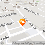 Map Hanoi Lucky II Hotel Hanoi, Vietnam