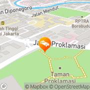 Map Hotel Mega Proklamasi Jakarta, Indonesia