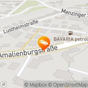 Karte Amalienburg München, Deutschland