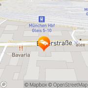 Karte A&O München Hauptbahnhof München, Deutschland