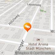 Karte Arena Stadt München München, Deutschland