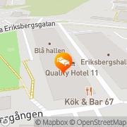 Karta Quality Hotel 11 & Eriksbergshallen Göteborg, Sverige
