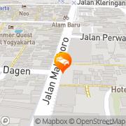 Map Hotel Mutiara Malioboro Yogyakarta Yogyakarta, Indonesia