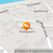 Kort Kildegaard, Pension Tisvildeleje, Danmark