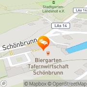 Karte Schloss Schönbrunn Landshut, Deutschland