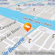 Map Bed & Breakfast Rialto Venice, Italy