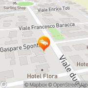 Map Hotel Delfino Milano Marittima, Italy