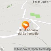 Map Hotel Abbazia dei Collemedio Collazzone, Italy