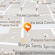 Map Palazzo Cardinal Cesi Rome, Italy