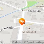 Karte Mühlenhof Hotel und Restaurant Wusterhausen, Deutschland