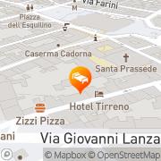 Map Tirreno Rome, Italy