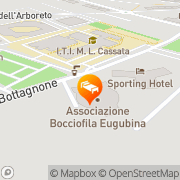 Map Sporting Hotel Gubbio, Italy