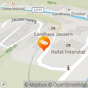 Karte Jausern Saalbach, Österreich