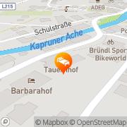 Karte Hotel Tauernhof Kaprun, Österreich