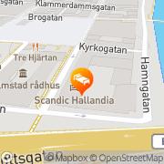 Karta Scandic Hotel Hallandia Halmstad, Sverige
