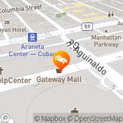 Map Eurotel Araneta Center, Cubao Quezon City, Philippines