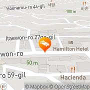 Map Hamilton Hotel Seoul, South Korea