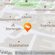 Karta Hotell Ahlström Lund, Sverige