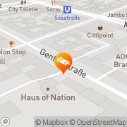 Karte Arcos Appartement-Hotel Berlin, Deutschland