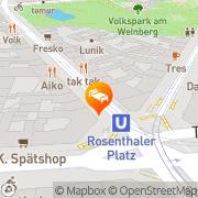 Karte Designapart Berlin, Deutschland