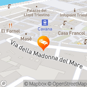 Map Hotel Albero Nascosto Trieste, Italy