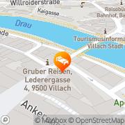 Karte Hotel Goldenes Lamm Villach, Österreich
