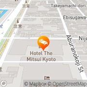 Map Kyoto Kokusai Hotel Kyoto, Japan