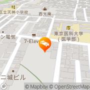 Map Hotel Listel Shinjuku Tokyo, Japan