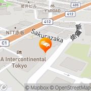 Map ANA InterContinental Tokyo Tokyo, Japan