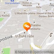 Map U Staré Pani Prague, Czech Republic