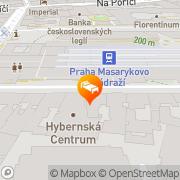 Map Central Prague, Czech Republic