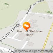 Karte Gasthof Goldener Hahn Frankfurt (Oder), Deutschland