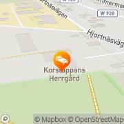 Karta Korstäppans Herrgård Leksand, Sverige