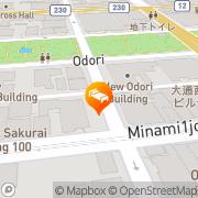 Map Hotel Okura Sapporo Sapporo, Japan
