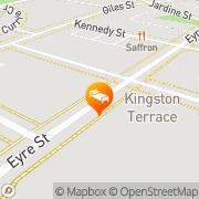 Map Kingston Terrace Serviced Apartments Canberra, Australia