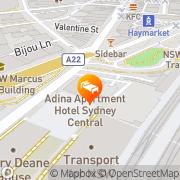 Map Medina Executive Sydney Central Sydney, Australia