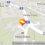 Map Hotel Eden Podstrana, Croatia